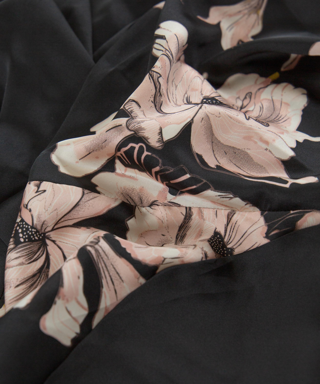 Kimono Satin Bloom, Noir, main