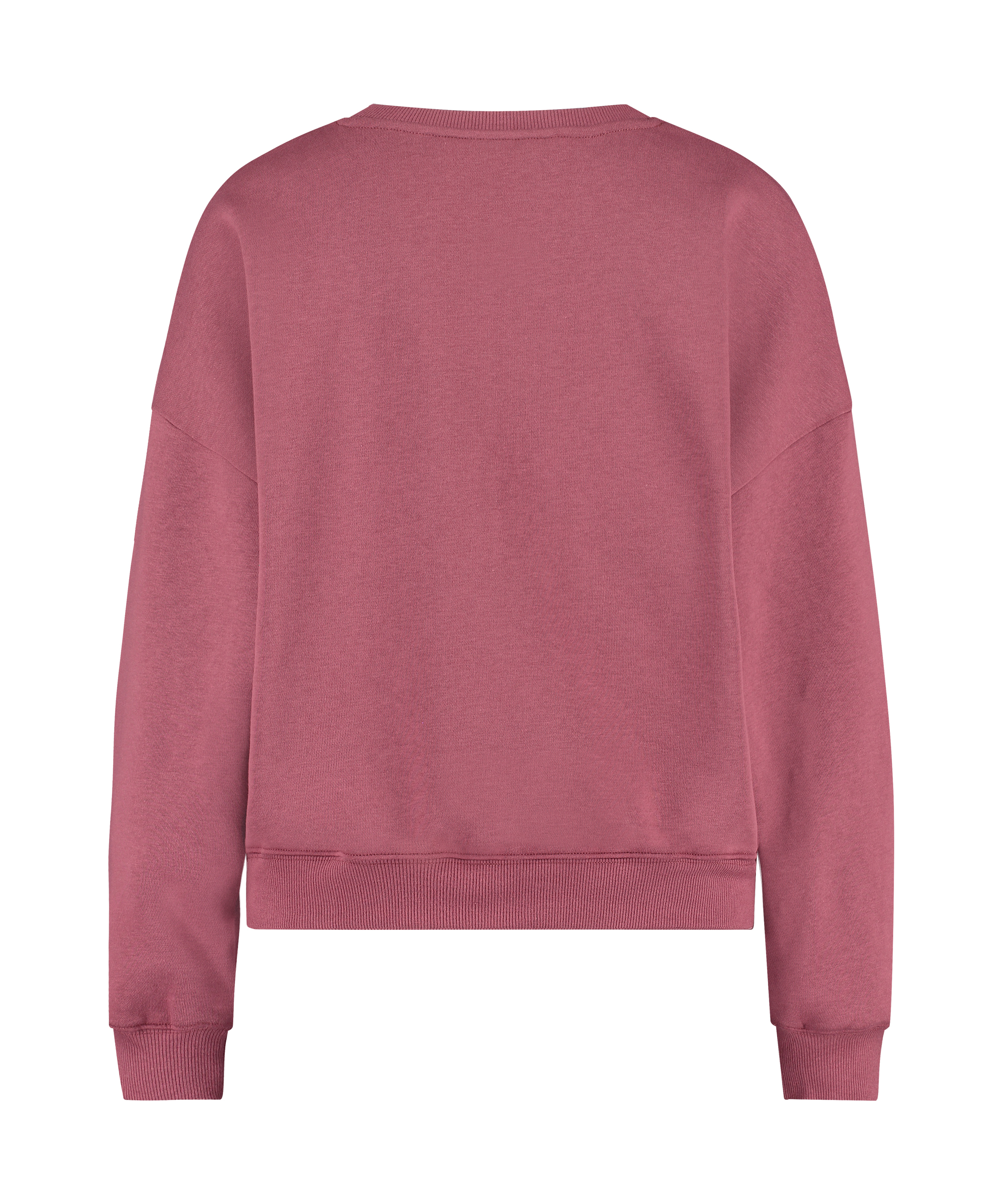 Top Manches Longues Boyfriend Brushed, Rose, main