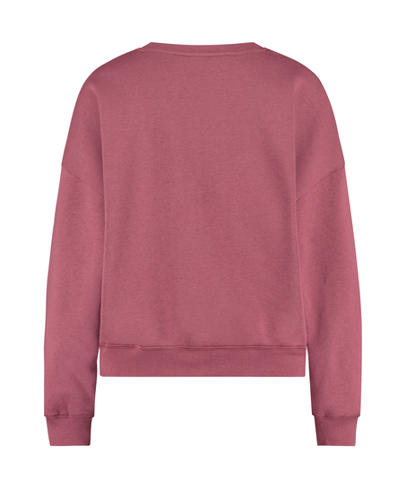 Top Manches Longues Boyfriend Brushed, Rose