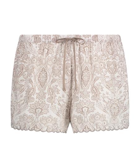 Short de pijama, Blanc