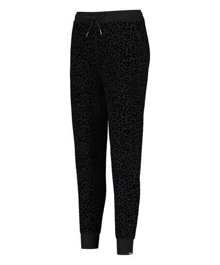 Pantalon de survêtement HKMX Léopard, Noir