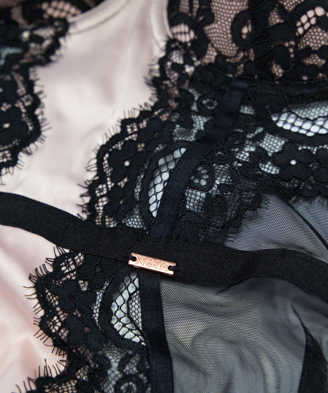 Slip dress Amelia à armature préformée, Noir, main