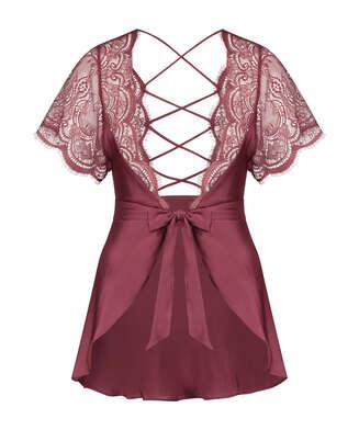 Kimono Satin Coco, Rouge