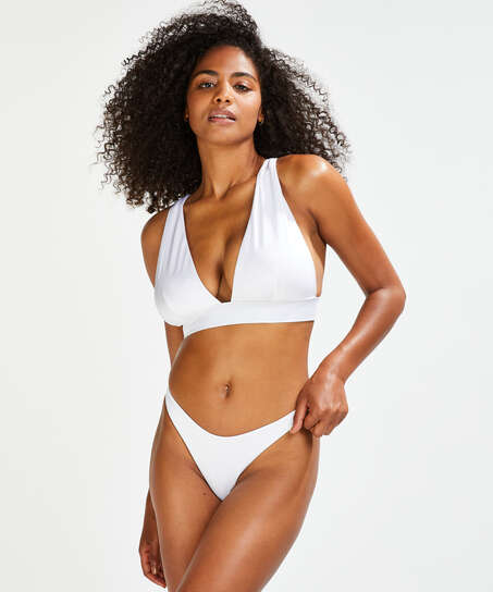 Haut de bikini Triangle Lola, Blanc