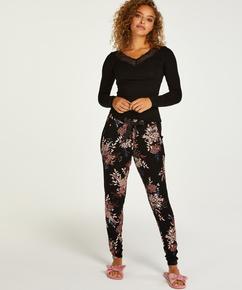 Petite Pantalon de pyjama Jersey, Noir