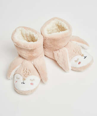 Chaussons Lapin, Beige