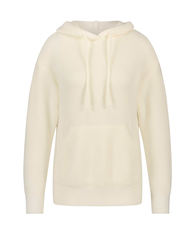 Premium Sweat à capuche manches longues Fluffy, Blanc, main