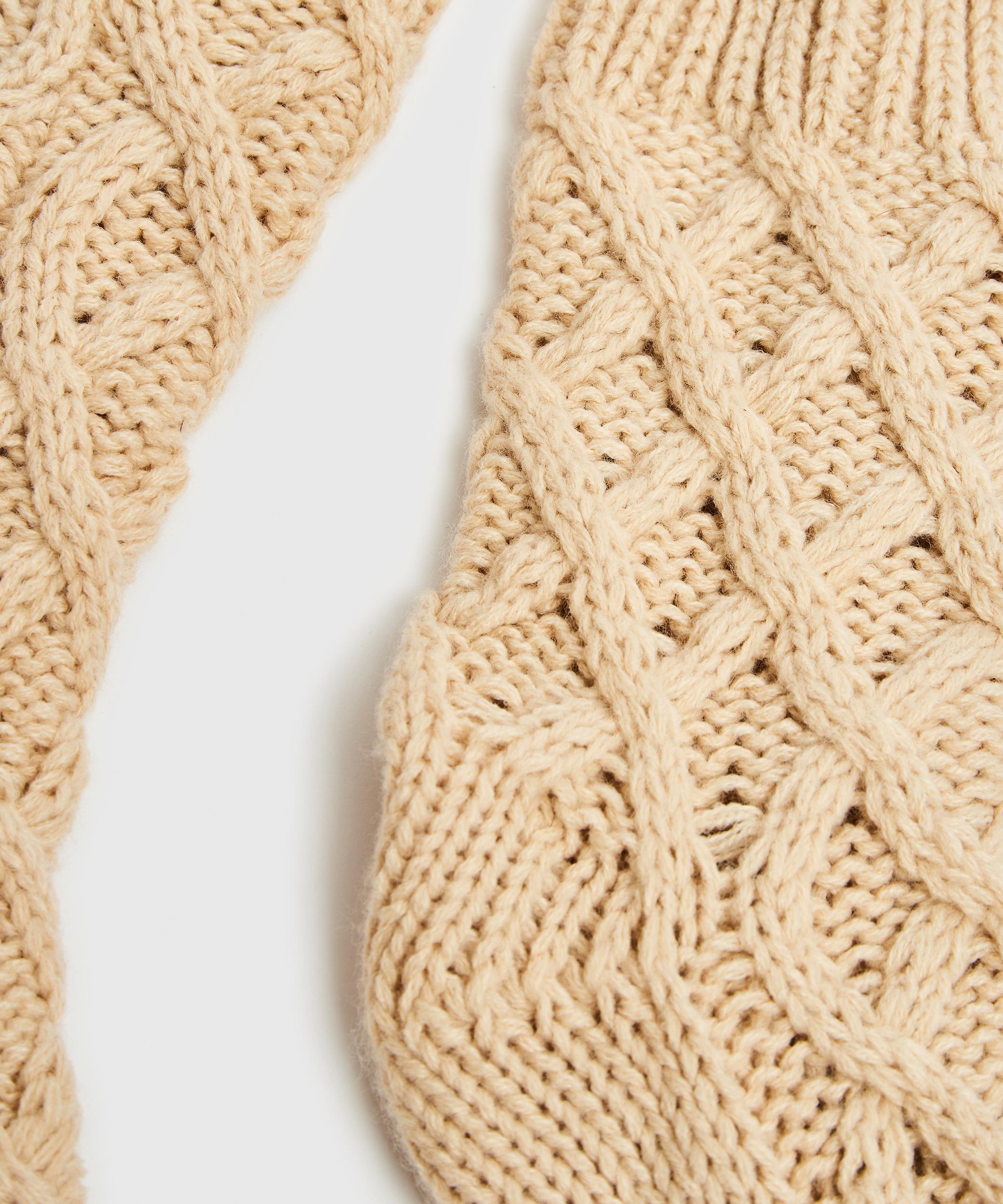 Chaussettes Knit, Beige, main