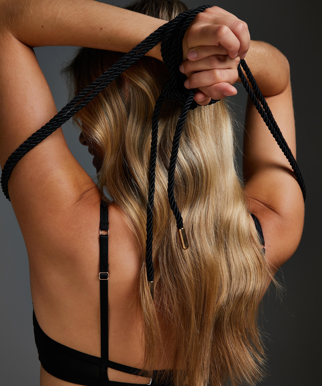 Body Corde de bondage, Noir, main
