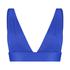 Haut de bikini triangle Luxe, Bleu
