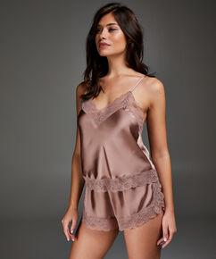 Short de pijama Satin, Rose