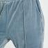 Pantalon Jogging Velours Pintuck, Bleu