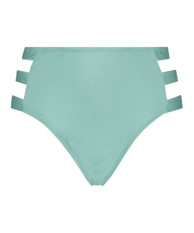 Slip de bikini taille haute coquin SoCal, Vert, main