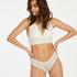 Slip brésilien V-shape mesh, Blanc