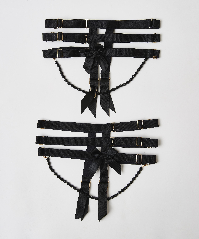 Porte-jarretelles Private Cuffs, Noir, main