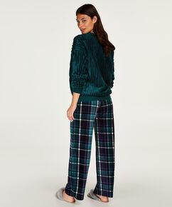 Pantalon de pyjama Velours, Bleu