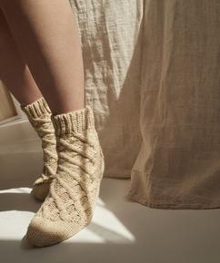 Chaussettes Knit, Beige