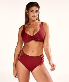 Slip de bikini taille haute Sunset Dream, Rouge