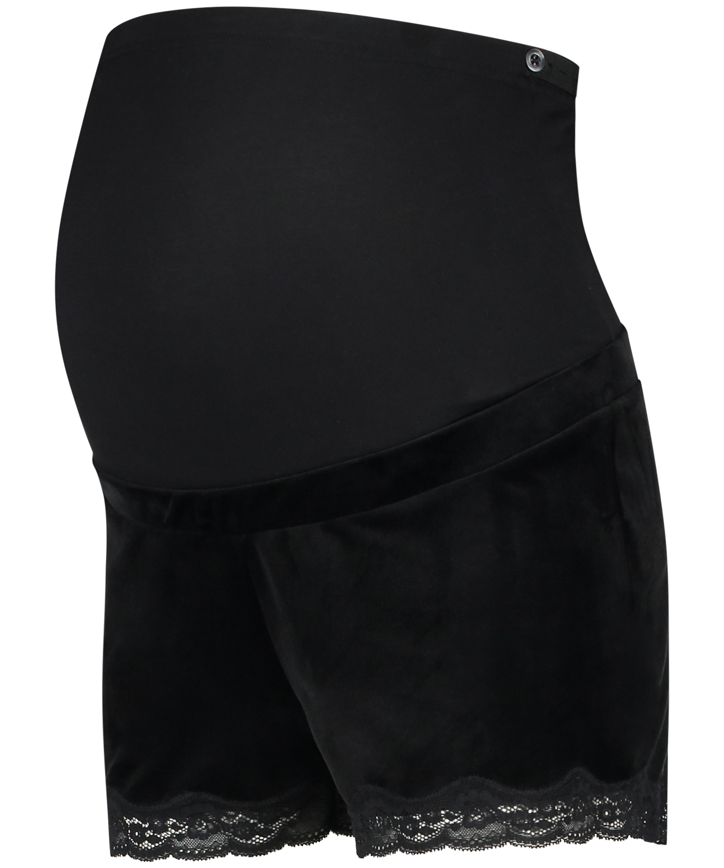 Short de grossesse Velours, Noir, main