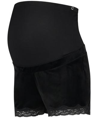 Short de grossesse Velours, Noir