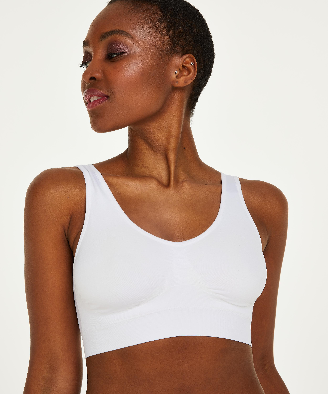 Top basic sans coutures, Blanc, main