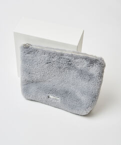 Trousse de maquillage Fake fur, Gris