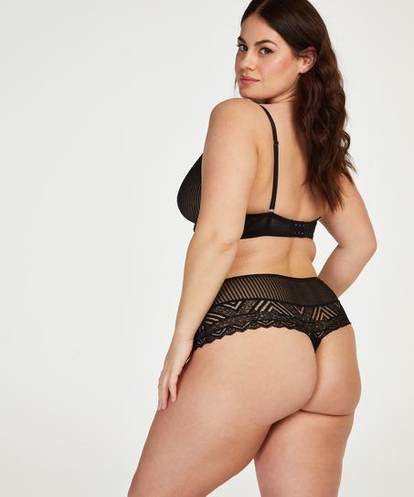 Boxerstring taille haute Lenix I AM Danielle, Noir