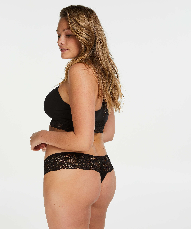 Boxer string Bianca, Noir, main