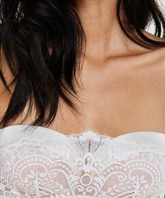 Soutien-gorge à armatures préformé sans bretelles Amarya, Blanc