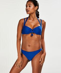 Culotte de bikini taille basse Amanda Queen, Bleu