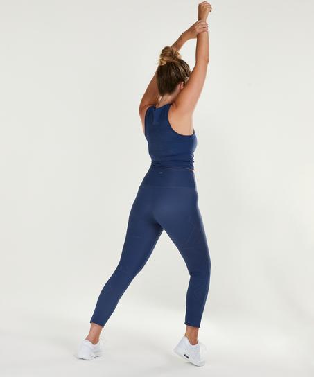Legging de sport HKMX court Naira taille haute, Bleu