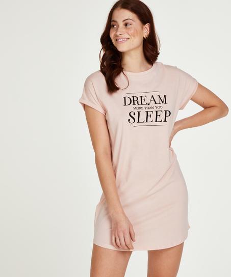 Chemise de nuit manches courtes Dream, Rose