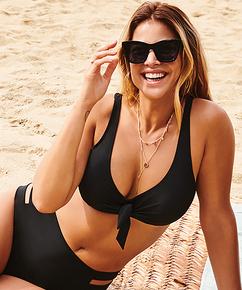 Anneau non ajusté haut de bikini Sunset Dreams, Noir