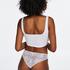 Slip brésilien Invisible Lace Back, Blanc