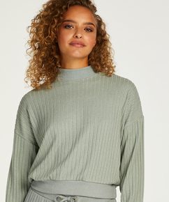 Top Manches Longues Brushed Rib, Vert
