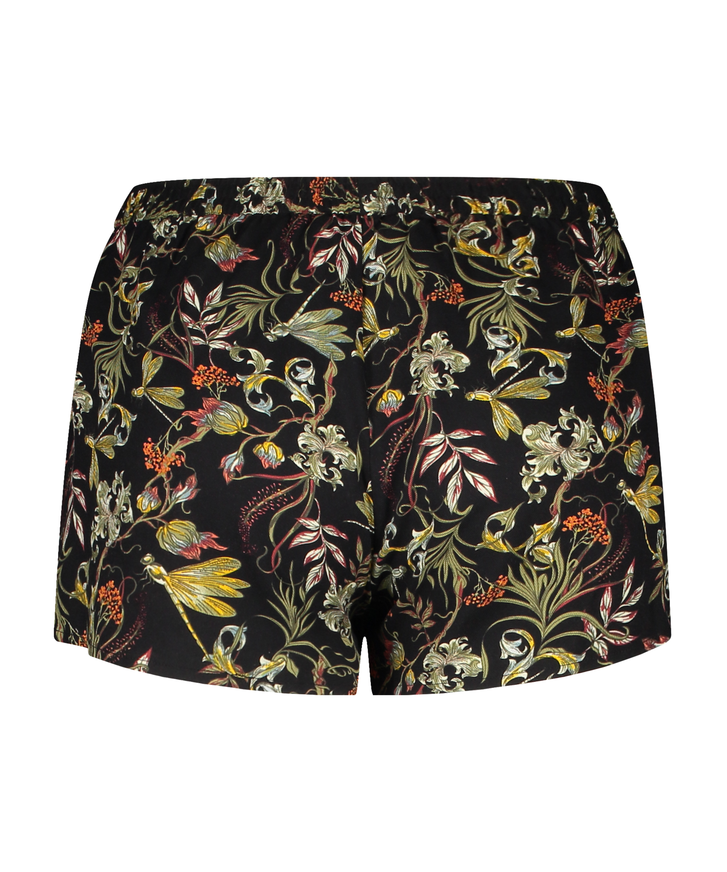 Short de pijama, Noir, main