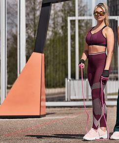 HKMX Legging sport taille haute roundknit, Violet