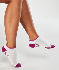 2 paires de chaussettes d'entrainement HKMX, Blanc