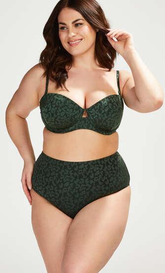 Haut de bikini à armatures préformé Tonal Leo Taille E +, Vert