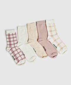 5 paires de chaussettes en coton  , Noir