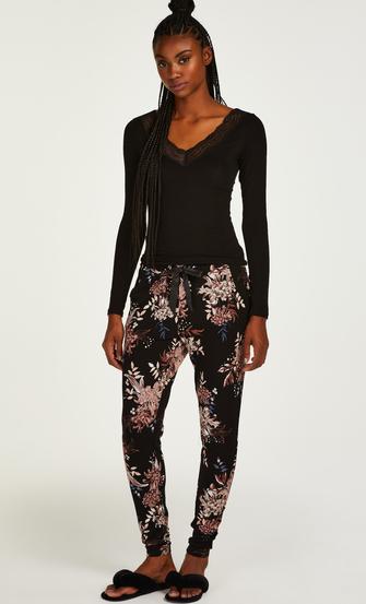 Pantalon de pyjama Tall Ditzy Floral, Noir