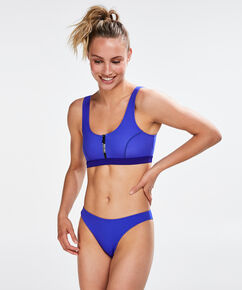 Slip de bikini taille basse cheeky HKMX, Bleu