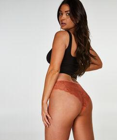 Slip brésilien Invisible Lace Back, marron