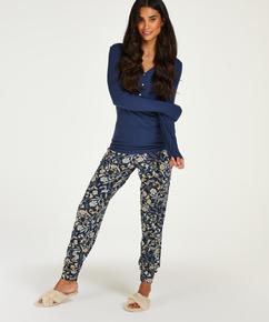Pantalon Fleece, Bleu