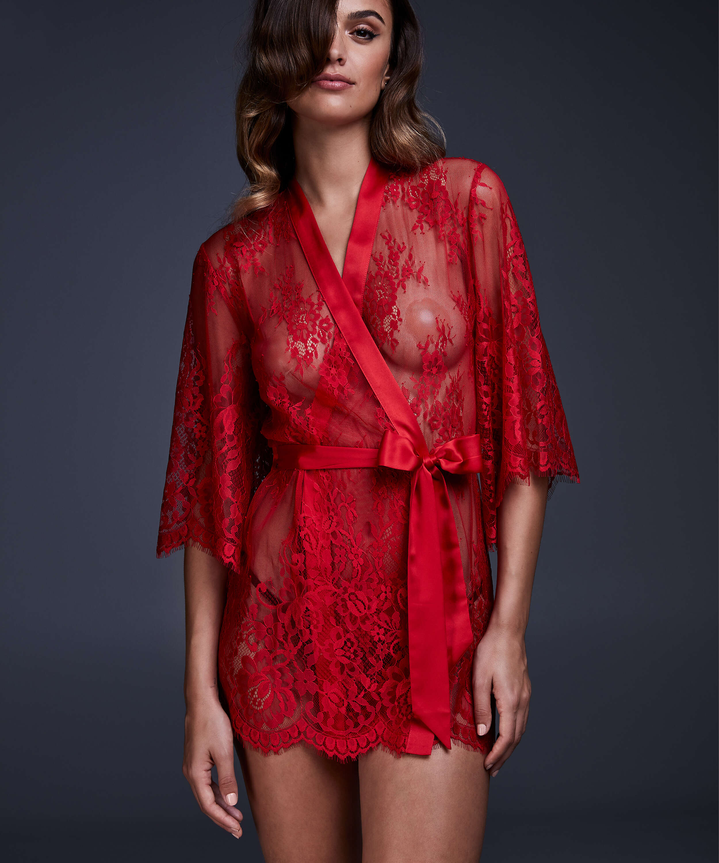 Kimono Lace Isabelle, Rouge, main