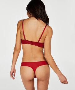 Soutien-gorge à armatures préformé sans bretelles Angie, Rouge