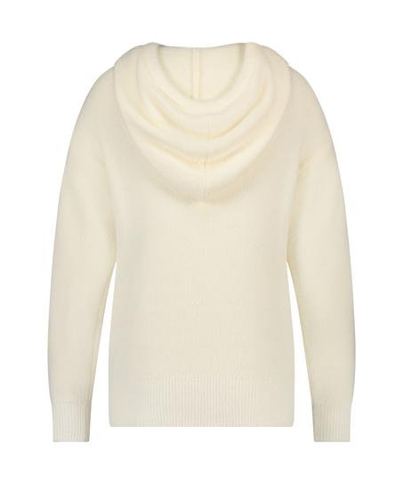 Premium Sweat à capuche manches longues Fluffy, Blanc