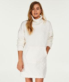 Peignoir robe en polaire, Blanc