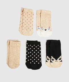 5 paires de chaussettes trainerliners, Noir