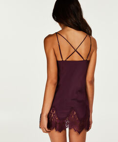 Nuisette Lace Satin Indra Petite, Violet